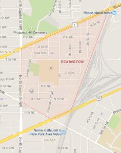 Map of Eckington Boundaries